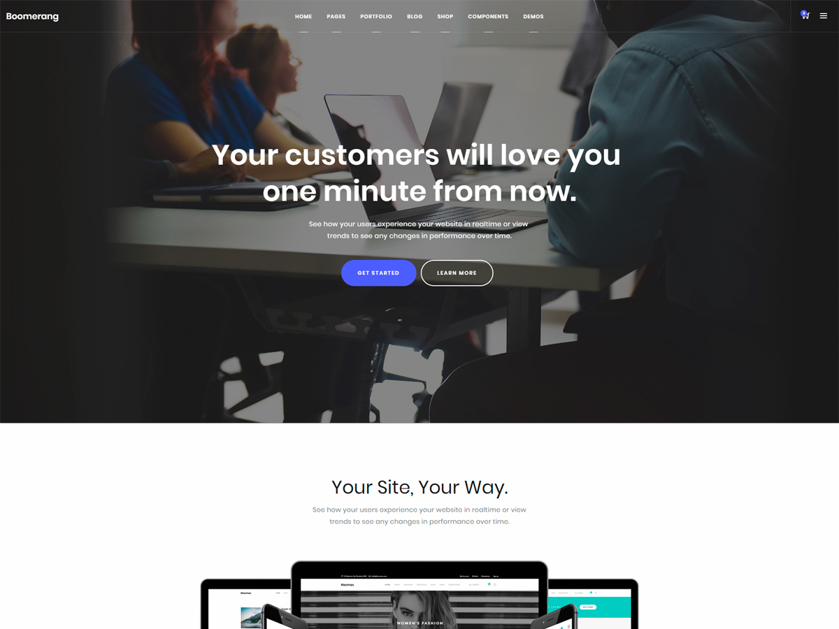 Boomerang – Bootstrap 4 Business & Corporate Theme - Bootstrap Themes