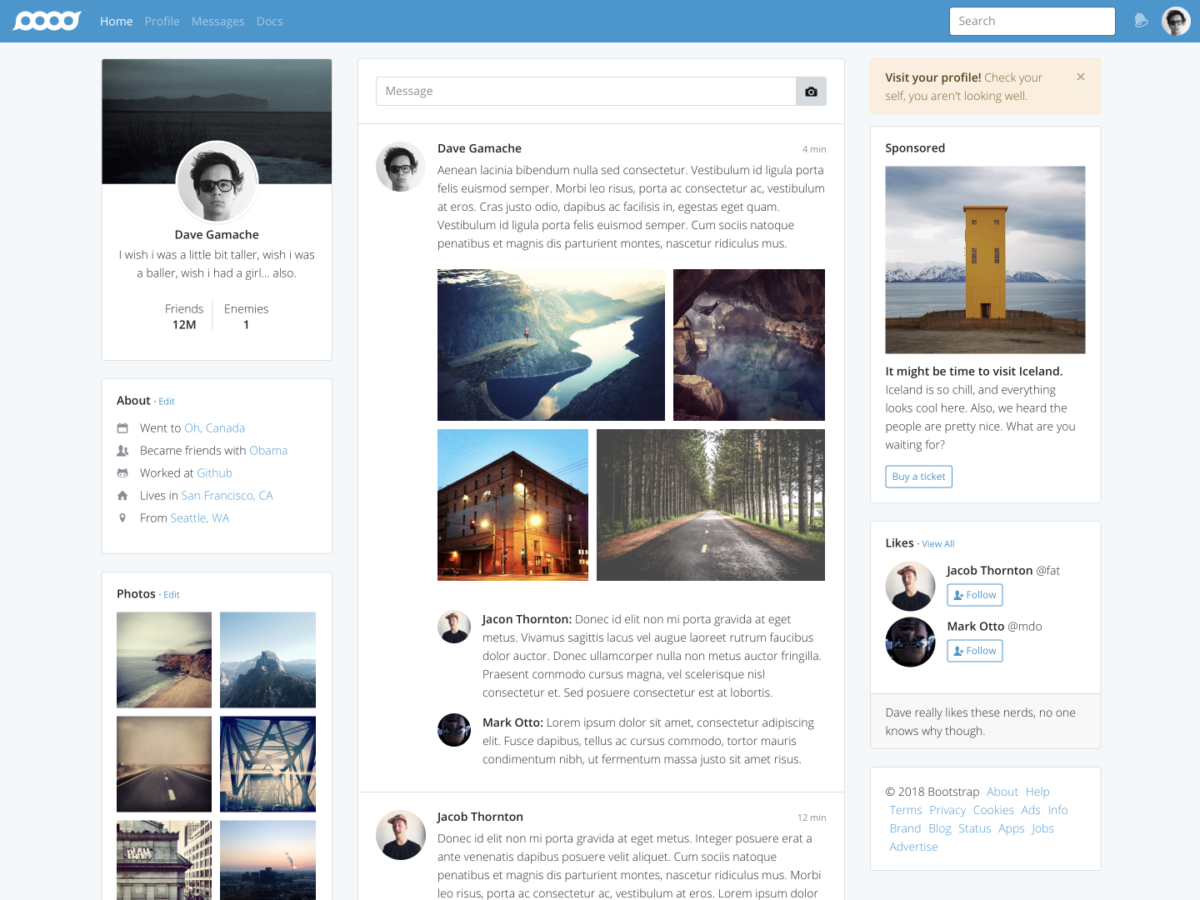 Application Bootstrap Themes