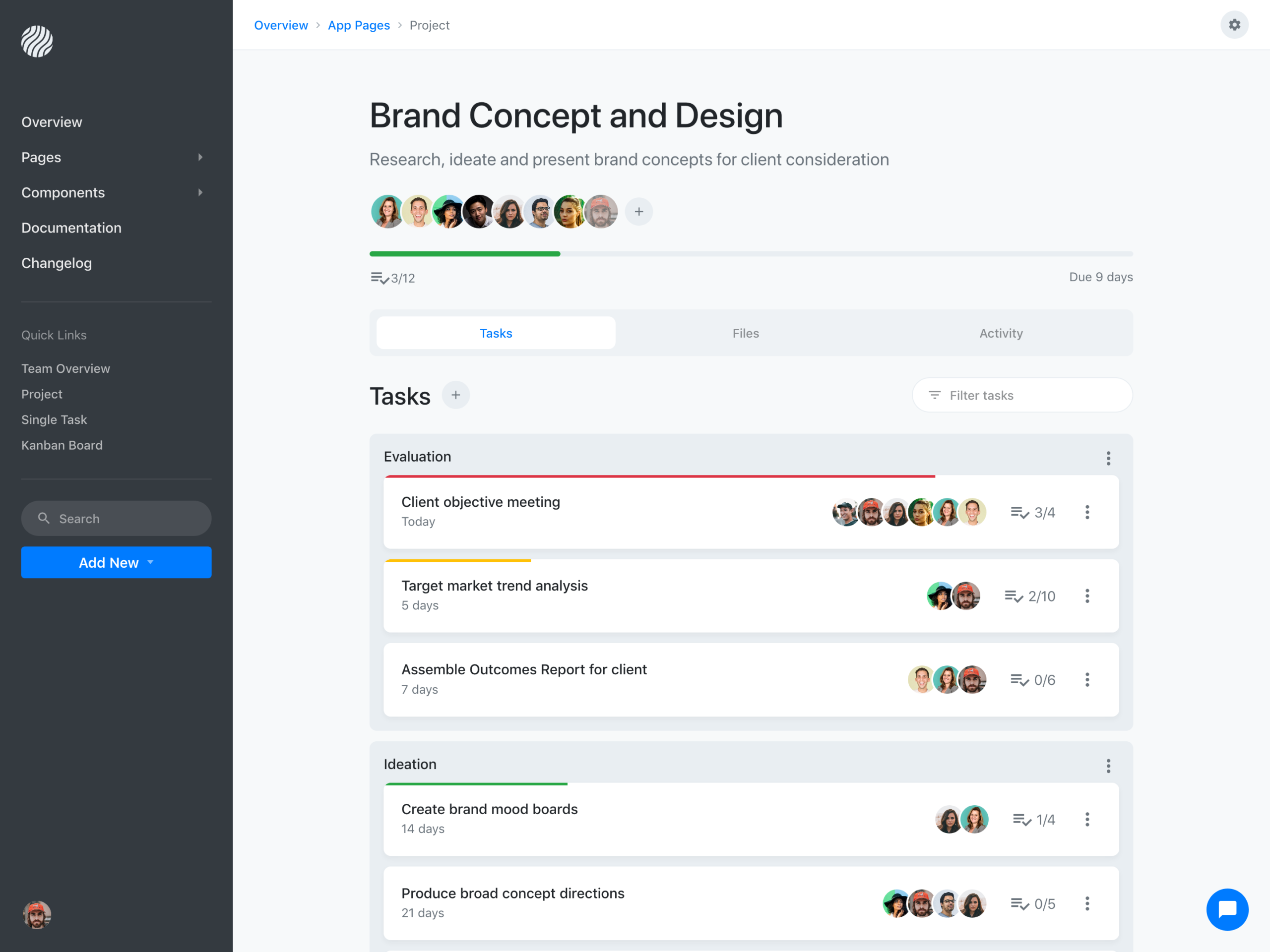 Pipeline Project Management Application   Bootstrap Themes