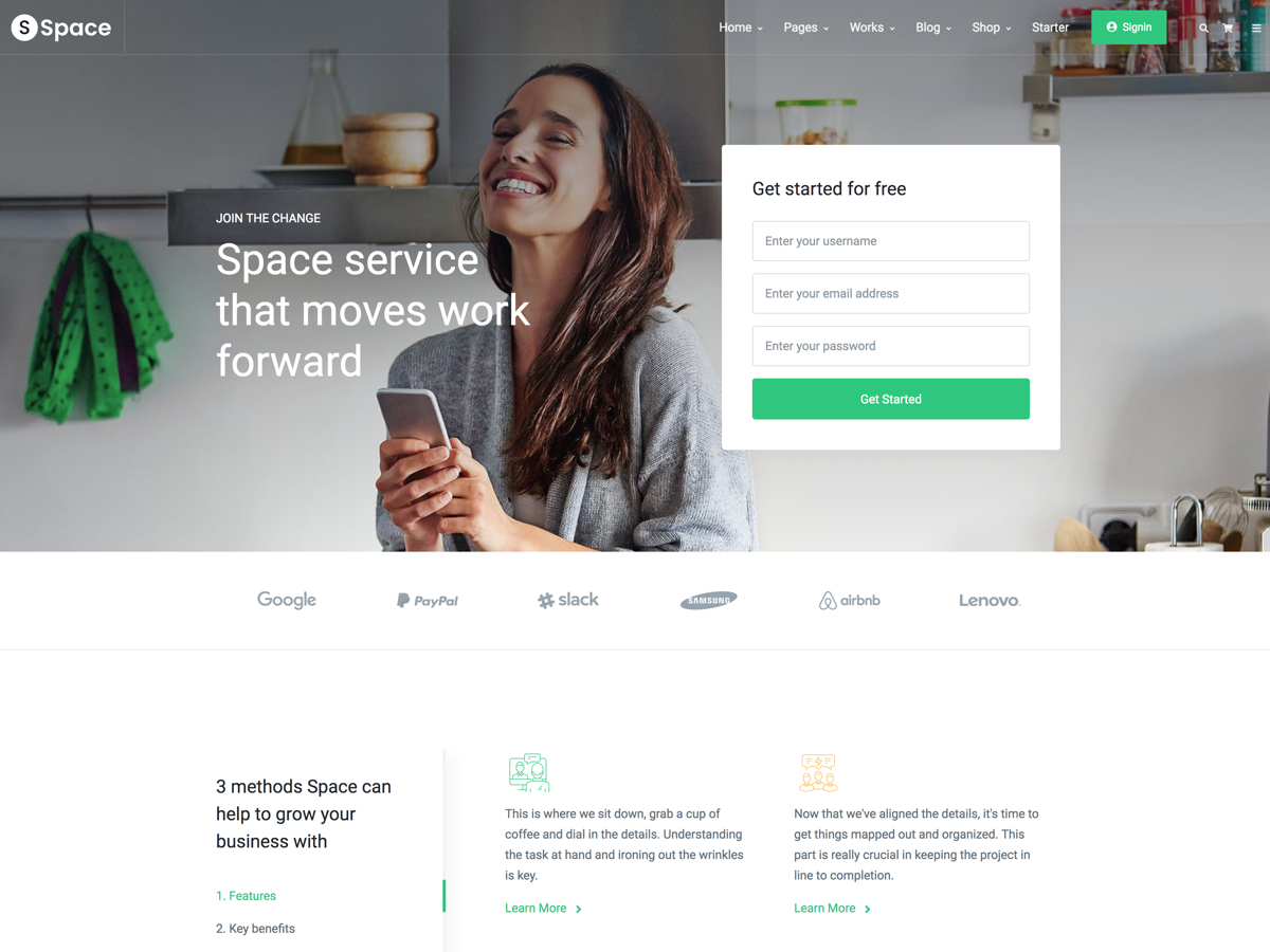 space multipurpose responsive template bootstrap themes