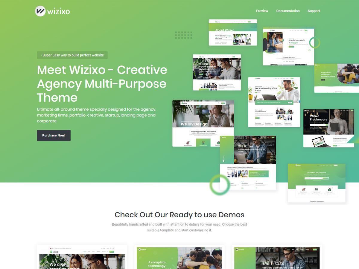 Wizixo Multipurpose Corporate Theme Bootstrap Themes