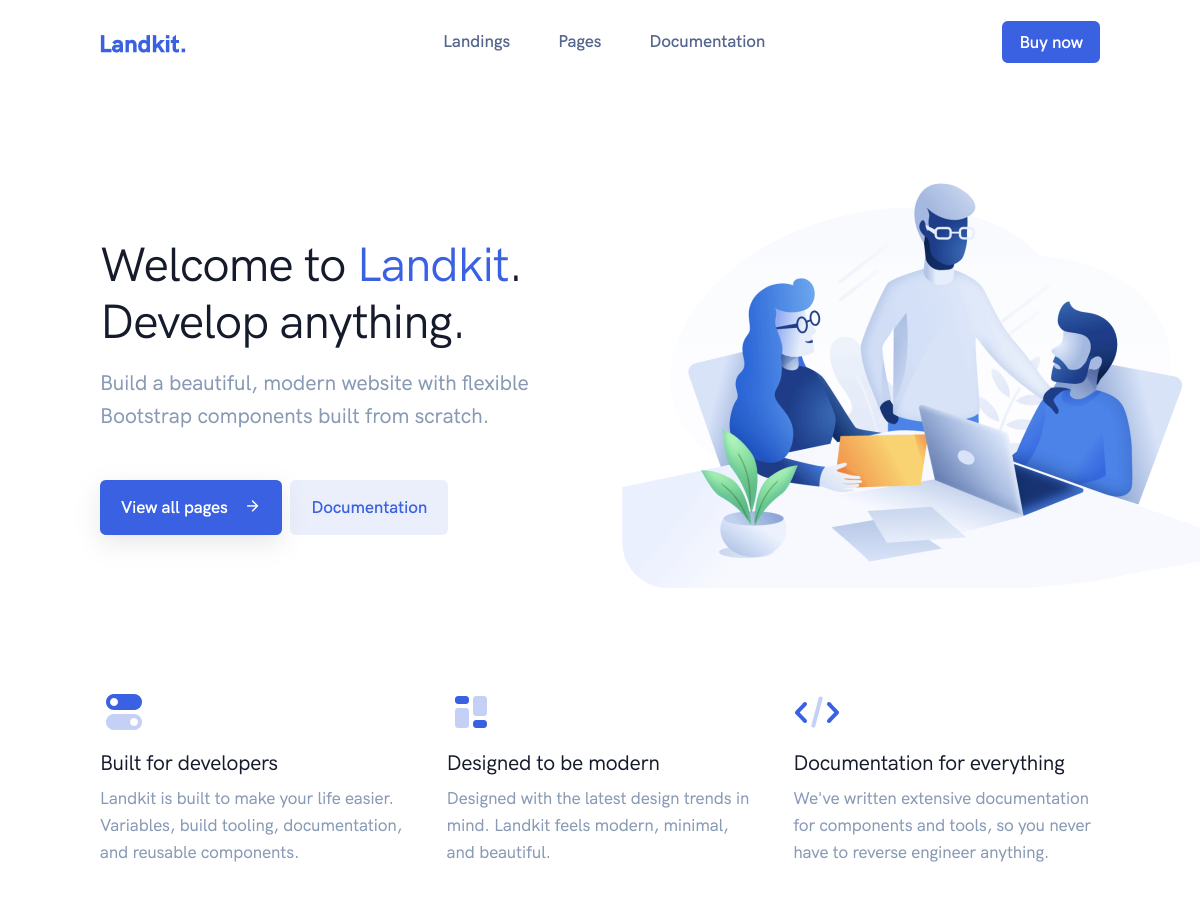 Landkit – Multipurpose Template + UI Kit - Bootstrap Themes